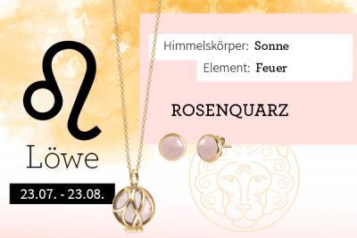 Sternzeichen Löwe - Rosenquarz als Stein der Liebe